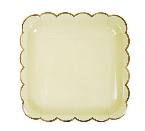 Yellow Fog - Square Plates - Miss Decorate