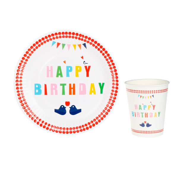 Birthday Birds - Plates - Miss Decorate