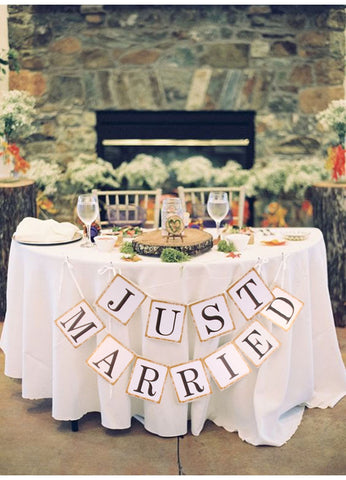 Vintage Just Married - Pennant - Miss Decorate