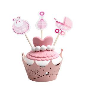Baby Girl - Cupcake Toppers - Miss Decorate