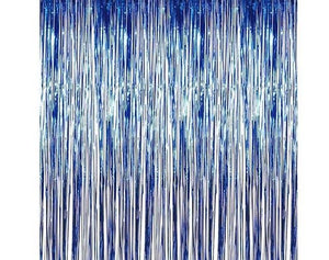 Blue Foil Fringe - Curtain - Miss Decorate