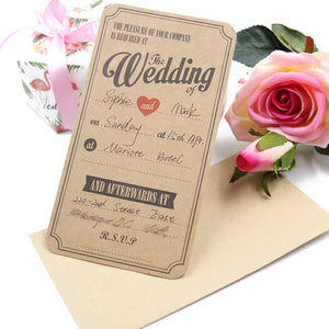 Rustic Wedding - Invitation Cards - Miss Decorate