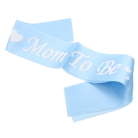 Blue Mom To Be - Sash - Miss Decorate