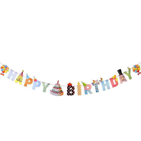 Vivid Happy Birthday - Pennant - Miss Decorate