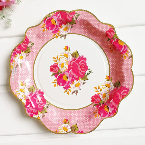 Vintage Floral - Plates - Miss Decorate