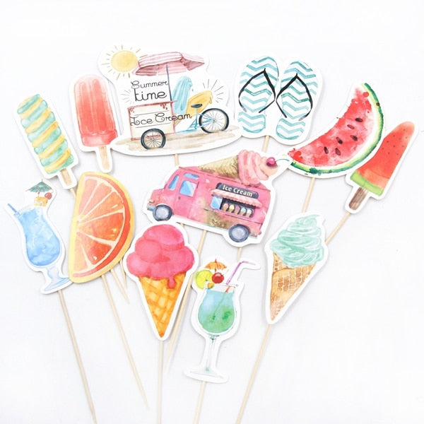 Summer Party - Cake Toppers - Miss Decorate