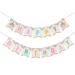 Sweet Unicorn -Happy Birthday Banner - Miss Decorate