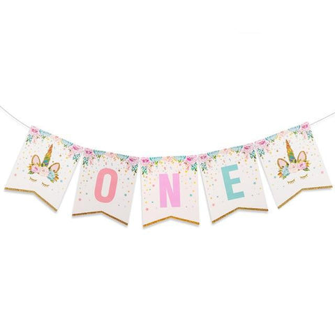 Sweet Unicorn - ONE Banner - Miss Decorate