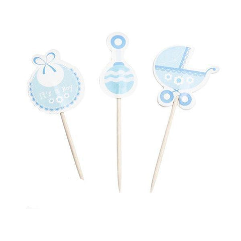 Baby Boy - Cupcake Toppers - Miss Decorate