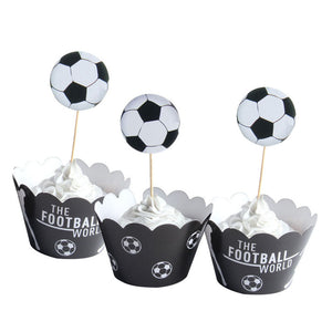 Football - Cupcake Wrapper - Miss Decorate
