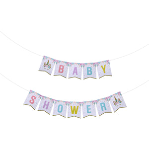 Sweet Unicorn Baby Shower - Pennant - Miss Decorate