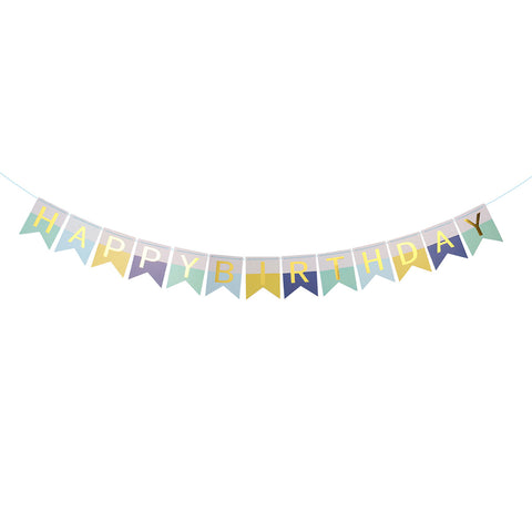 Blue Wonderland Birthday - Pennant - Miss Decorate
