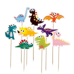 Happy Dinosaurs - Cupcake Toppers - Miss Decorate