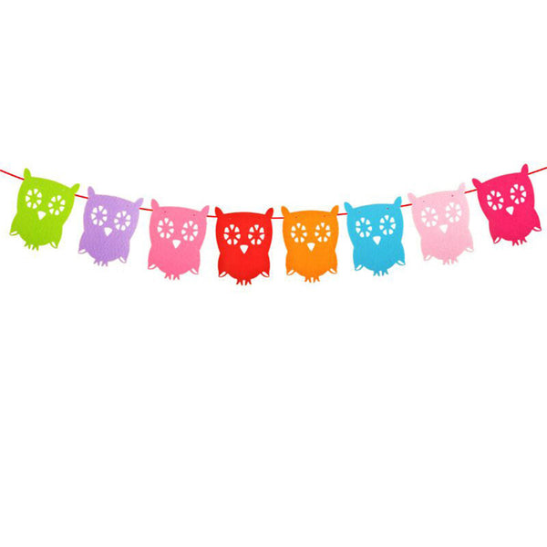 Colorful Owl - Pennant - Miss Decorate