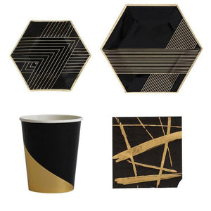Black Gold Strings - Tableware - Miss Decorate