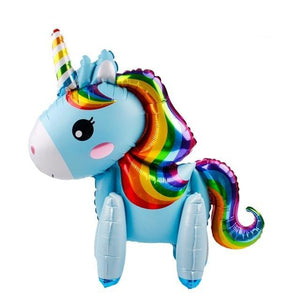 Large Unicorn Balloon - Blue - Miss Decorate