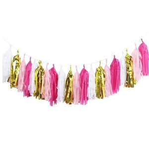 Pink/Gold Mix Tassels - Garland - Miss Decorate