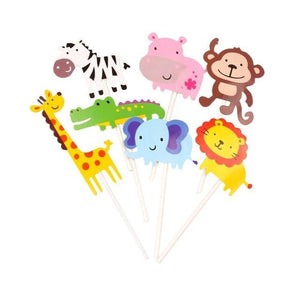 Awesome Animals - Cupcake Toppers - Miss Decorate