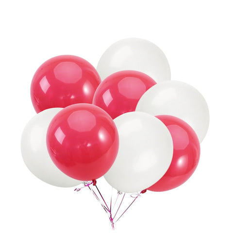 Balloon Mix - Soft Red/White - 50 pcs - Miss Decorate