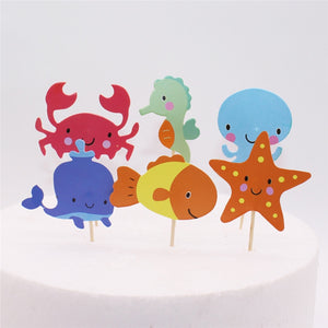 In The Ocean - Cake Toppers - Miss Decorate