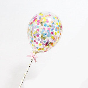 Multicolor Confetti Balloon - Cake Topper - Miss Decorate