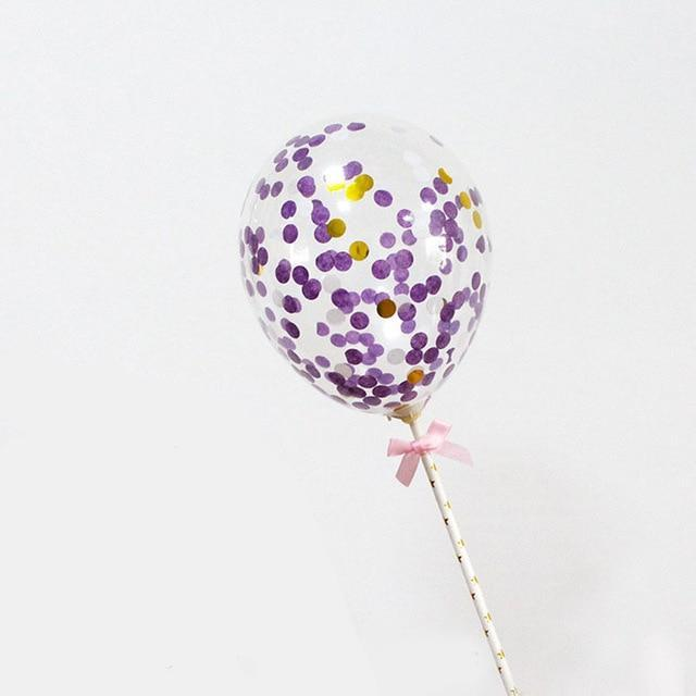Purple Confetti Balloon - Cake Topper - Miss Decorate