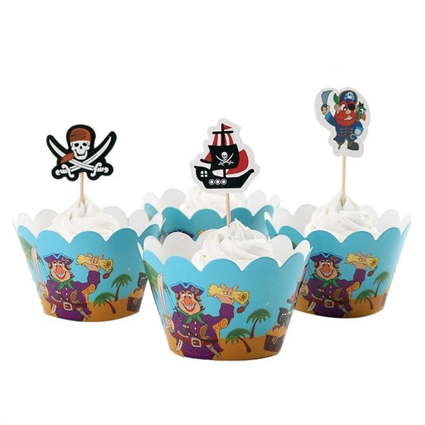 Like a Pirate - Cupcake Wrappers - Miss Decorate