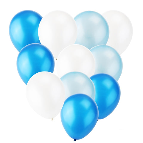 Balloon Mix - Blue/White - 30 pcs - Miss Decorate
