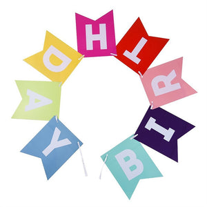 Colorful Happy Birthday - Pennant - Miss Decorate