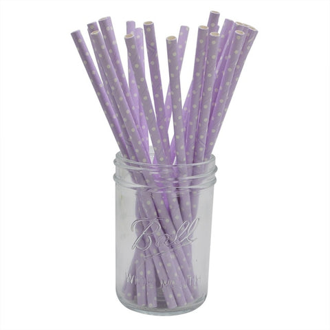 Purple Dots - Straws - Miss Decorate