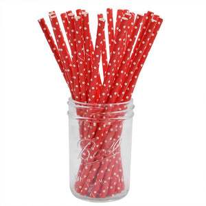 Red Dots - Straws - Miss Decorate