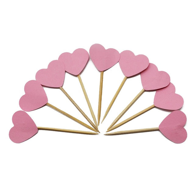 Pink Heart - Cake Toppers - Miss Decorate