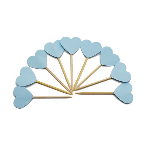 Blue Heart - Cake Toppers - Miss Decorate