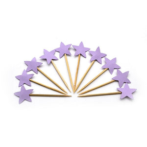 Purple Stars - Cake Toppers - Miss Decorate