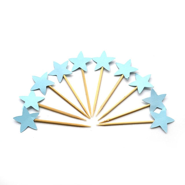 Blue Stars blue- Cake Toppers - Miss Decorate