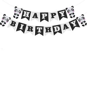 Panda Happy Birthday - Pennant - Miss Decorate