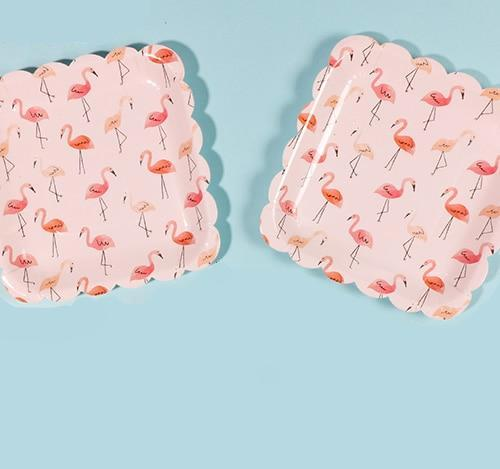 Pink Flamingo - Plates - Miss Decorate