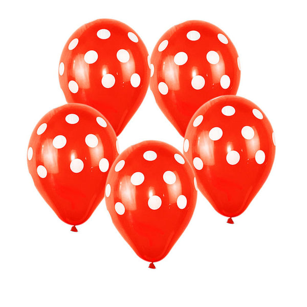 Red Polka Dot - Balloons - Miss Decorate