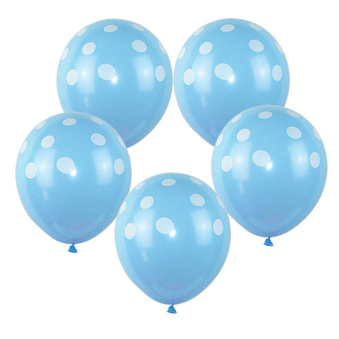Blue Polka Dot - Balloons - Miss Decorate