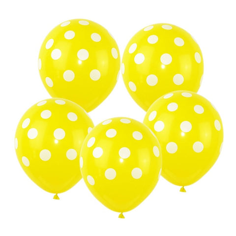 Yellow Polka Dot - Balloons - Miss Decorate