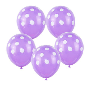 Purple Polka Dot - Balloons - Miss Decorate