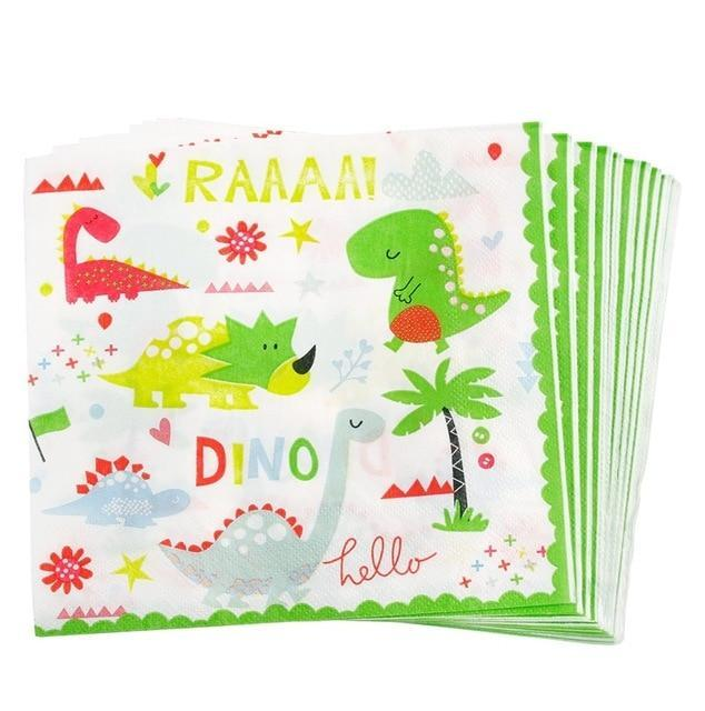 Little Dinosaurs - Napkins - Miss Decorate