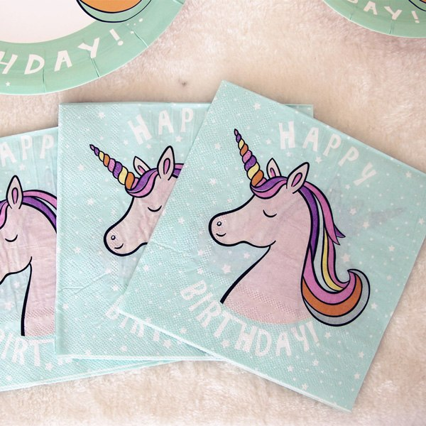 Minty Unicorn - Napkins - Miss Decorate