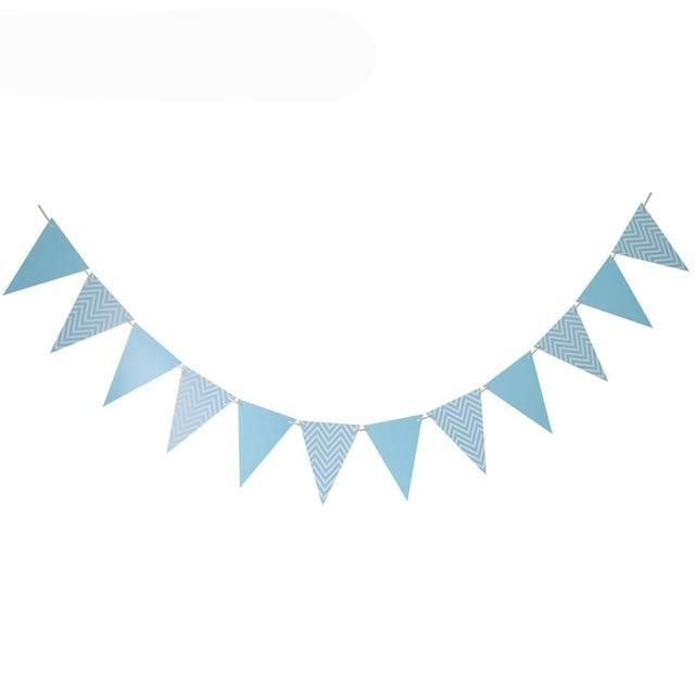 Blue Chevron - Pennant - Miss Decorate