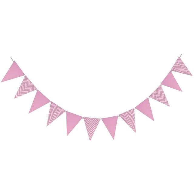 Pink Chevron - Pennant - Miss Decorate