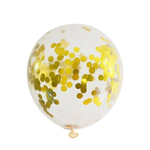 Gold Confetti - Balloons - Miss Decorate