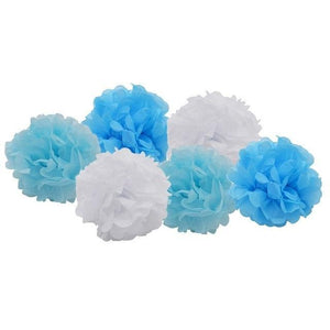 Pom Poms - Baby Blue Mix - Miss Decorate