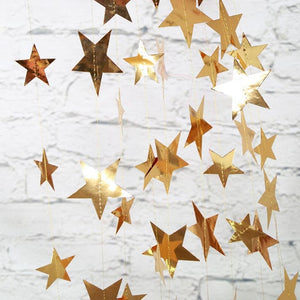 Bright Gold Stars - Garland - Miss Decorate