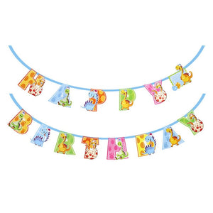 Cute Dinosaur - Happy Birthday Pennant - Miss Decorate
