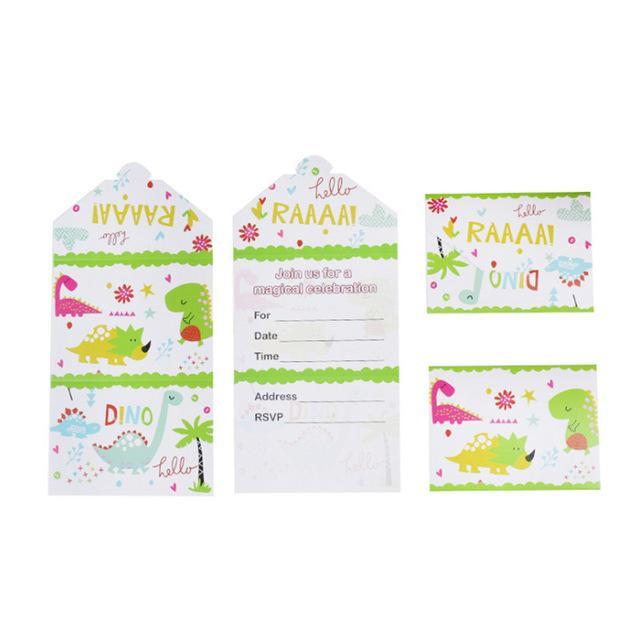 Little Dinosaurs - Invitation Cards - Miss Decorate